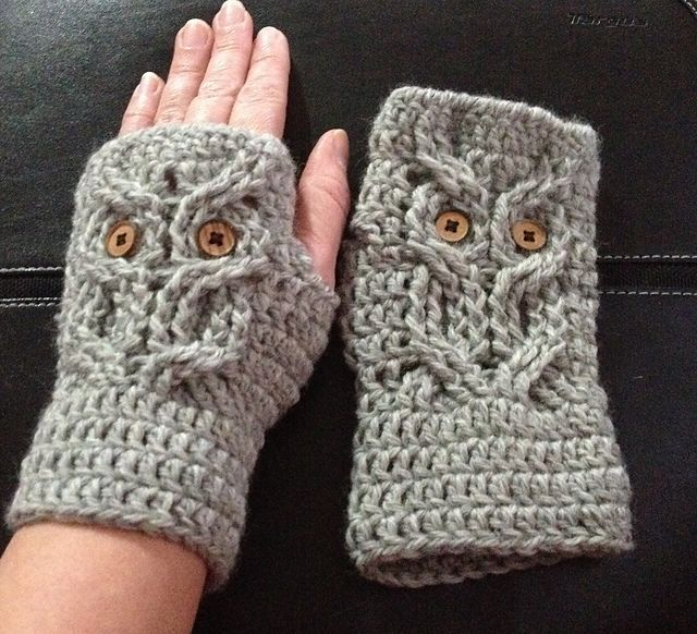 Top 25 ideas about Crocheted Fingerless Gloves on ...