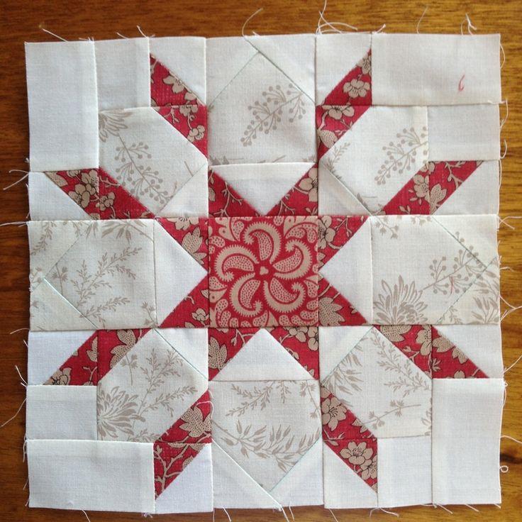Mini Swoon block in French General fabrics. #miniswoon #frenchgeneralfabrics #miniswoonblock