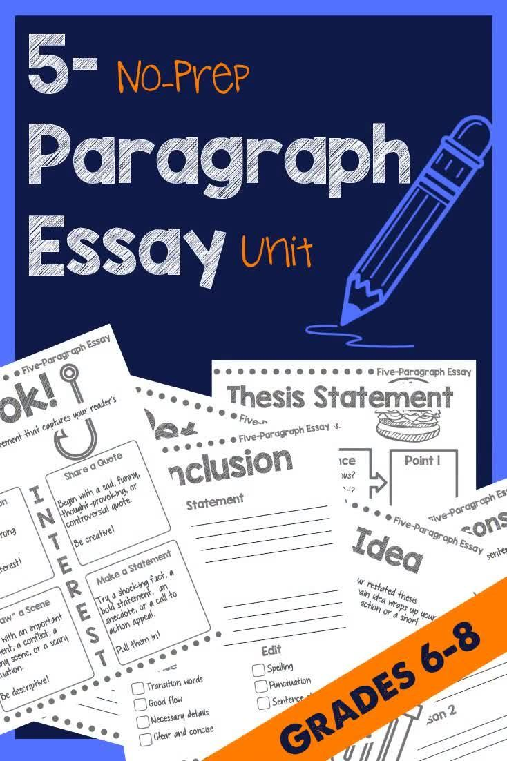 Middle school fiveparagraph essay with images