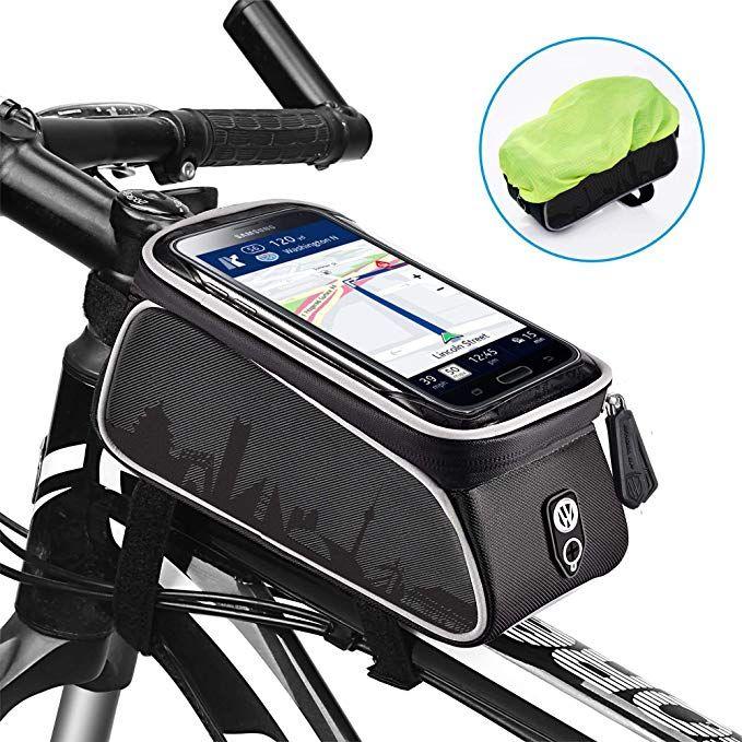 Waterproof Cycling Bike Handlebar Bag Bicycle Front Tube Frame Bags Phone Holder