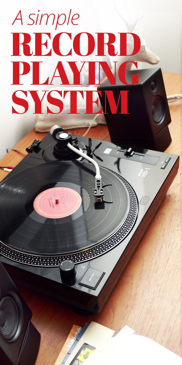 "For our simple desktop ""system"", we chose the Music Hall USB-1 turntable and Audioengine's A2+ powered speakers. Virtually ready to go right out of the box. The USB-1's built-in phono preamp means you can plug it straight into the A2+ speakers using the included patch cords. That's it. Nothing else needed"