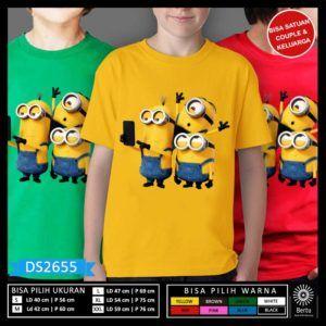 T-Shirt Anak Minion Despicable Me 3 Selfie
