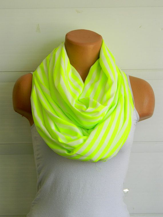 neon,neon green,striped scarf,scarves,infinity scarf,infiniti scarf,striped scarf,striped scarves,neon green scarves, $23.00