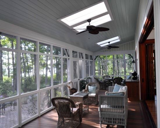 Porch Sunrooms Design, Pictures, Remodel, Decor and Ideas - page 5Bathroom Design, Screens Porches, Frederick Architects, Porches Enclos, Decks Design, Ceilings Design, Sky Lights, Back Porches, Enclosed Porches