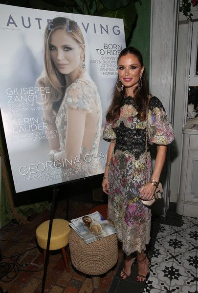 Georgina Chapman attends the Haute Living Celebrates Georgina Chapman with Perrier-Jouet and JetSmarter event at Socialista New York on September 27, 2016 in New York City.