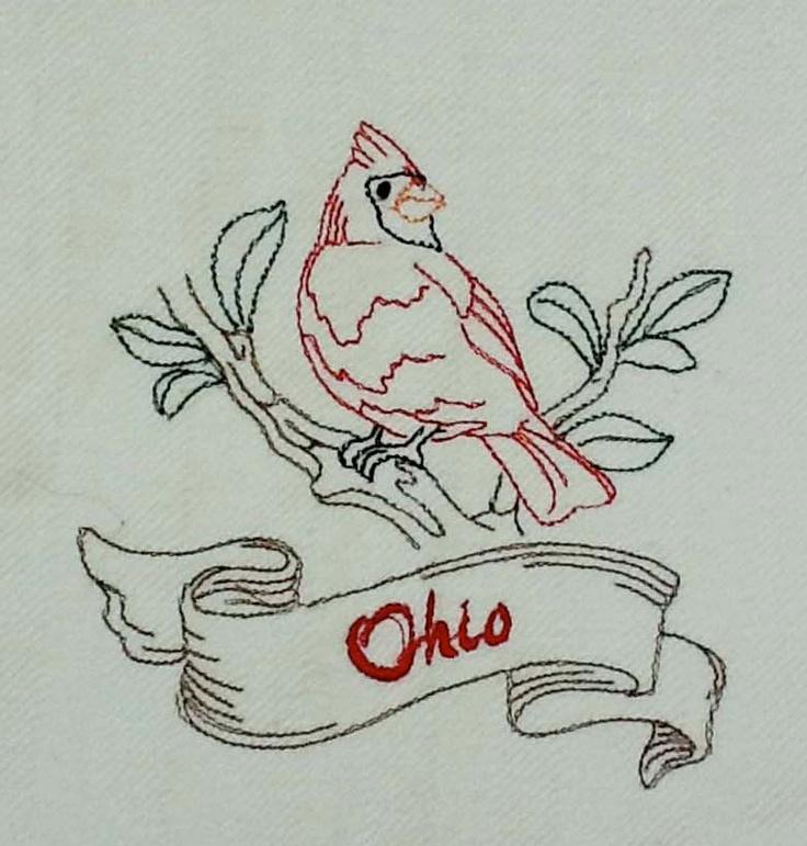 Vintage Style Souvenir Ohio State Bird Cardinal