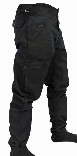 "WWK Mens Army Combat Work Trousers Pants Combats Cargo - Black - 36"" WWK / WorkWear King http://www.amazon.co.uk/dp/B007PR8RKG/ref=cm_sw_r_pi_dp_TADMtb06MBZEDVS5"