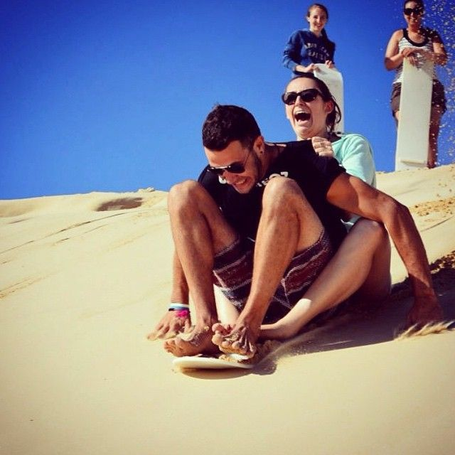 // a u s t r a l i a //  Sandboarding fun at UltimateOz basecamp. Photo taken by ultimate.travel on Instagram