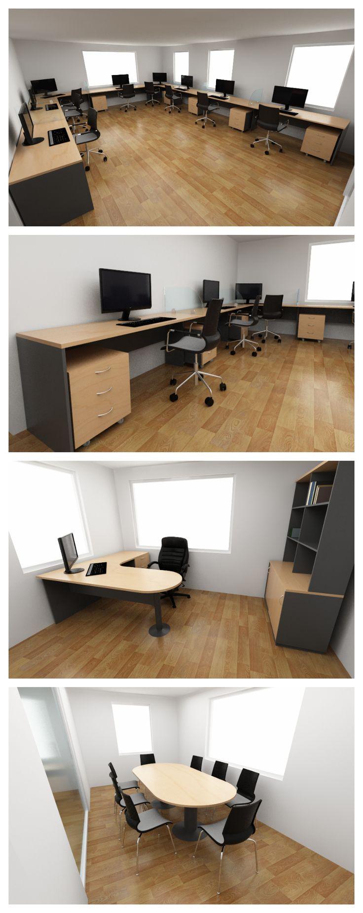 Propuesta de mobiliario para oficina que consta de for Mobilario de oficina