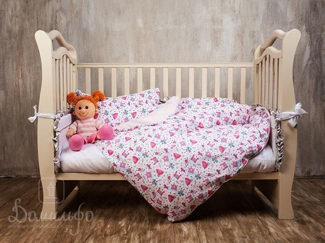 www.domilfo.ru +7(495)960-90-70. Постельное белье для малышей BABY GRASS розовое от производителя German Grass (Австрия)