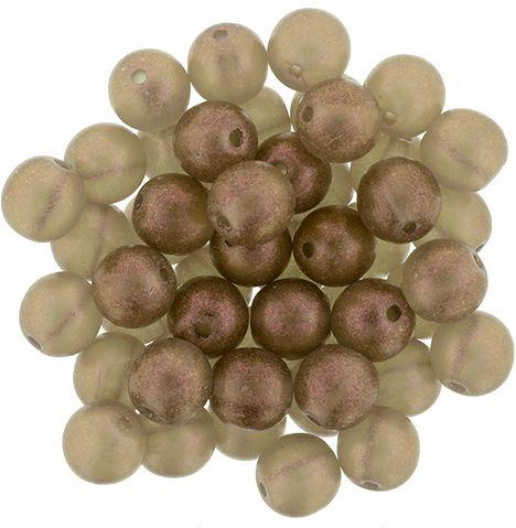 5-06-S10C4001 Round Beads 6mm : Cosmic Twinkle - Black Diamond