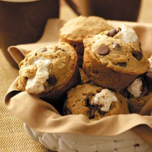I Want S'more Muffins Recipe from Taste of Home -- shared by Sally Sibthorpe of Shelby Township, Michigan