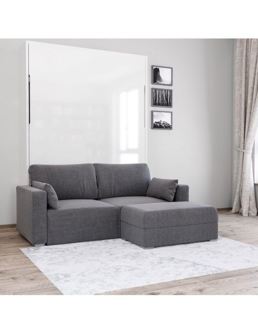 Admirable Murphysofa Minima Sectional Mini Wall Bed Couch Combo In Alphanode Cool Chair Designs And Ideas Alphanodeonline