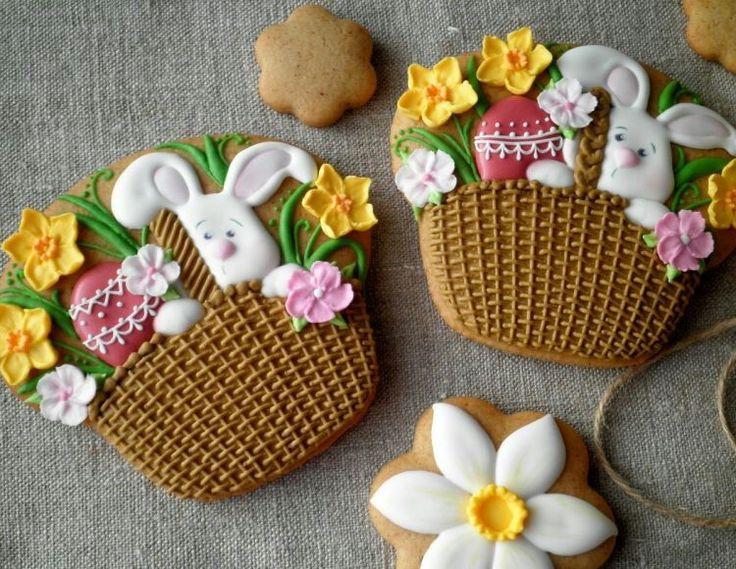 Easter basket flowers bunny