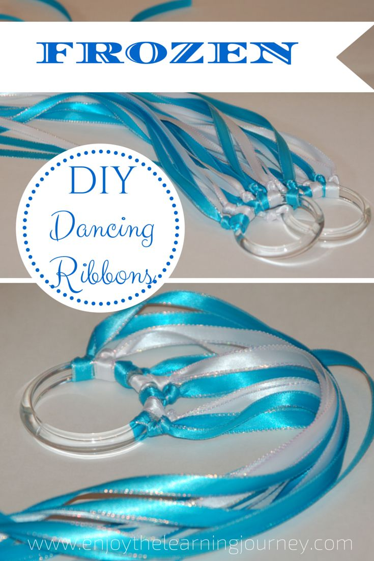 DIY Frozen Dancing Ribbons - beautiful, fun and an inexpensive party favor option for a Frozen themed birthday party!