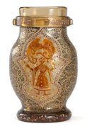 EMILE GALLE. Rare artistic cameo glass 'Jeanne d'Arc' vase, | Lot #70086 | Heritage Auctions
