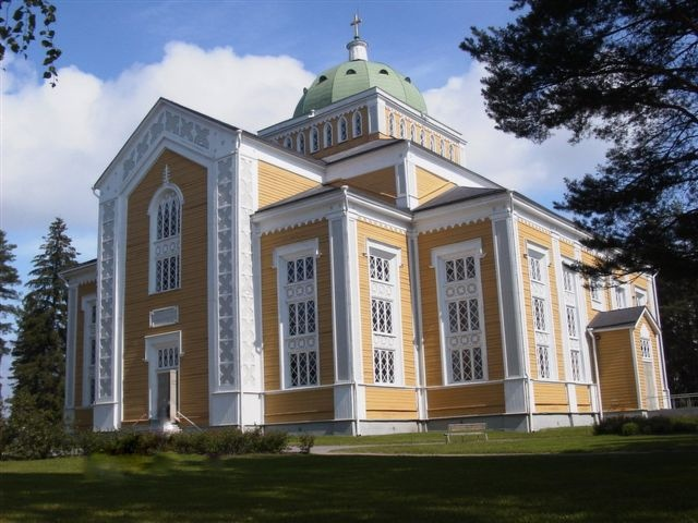 Kerimäen kirkko, in Kerimäki, Finland,  the biggest wooden Church in the world:
