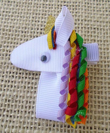 Simply2Cute White Unicorn Hair Clip | zulily