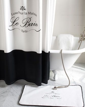 """Le Bain"" Shower Curtain - Neiman Marcus - Want want want! Pretty enough for me, but not too feminine for Max."