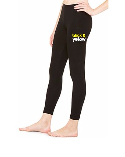 Black and Yellow Wiz Khalifa Design 6 - LEGGING
