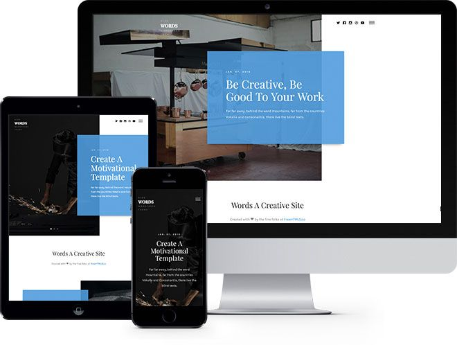 Words: Free HTML5 Bootstrap Template Multi Purpose - Free Responsive HTML5 Template