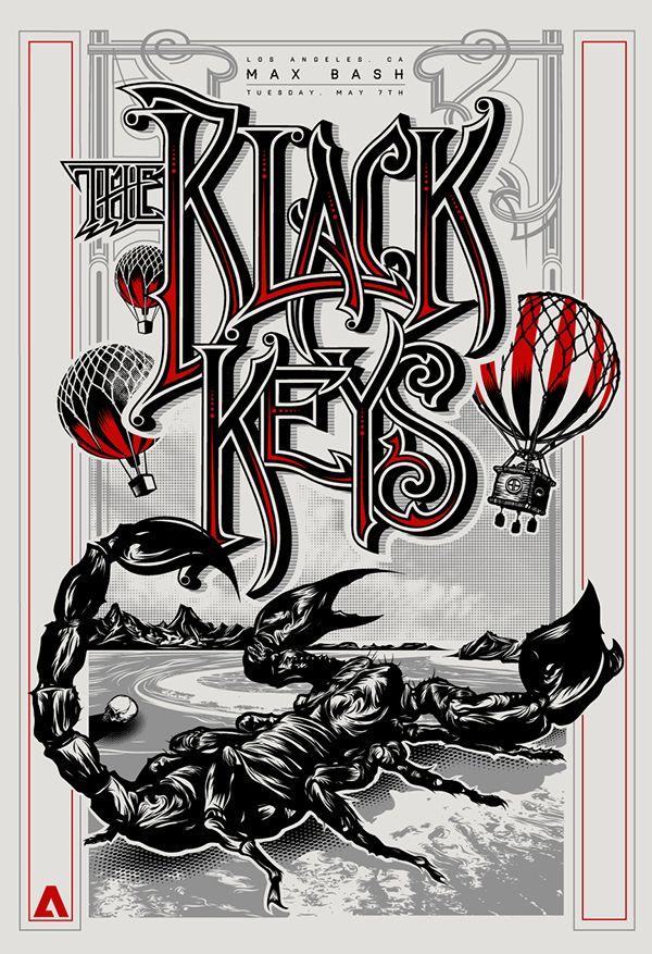 Black Keys Poster for Max Bash 2013