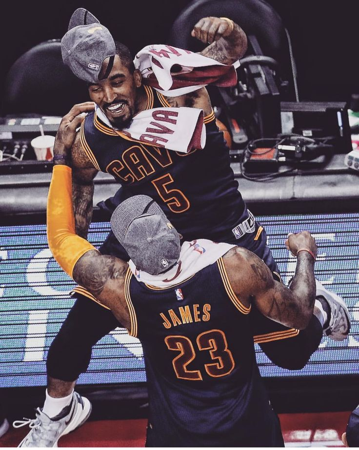JR Smith and LBJ
