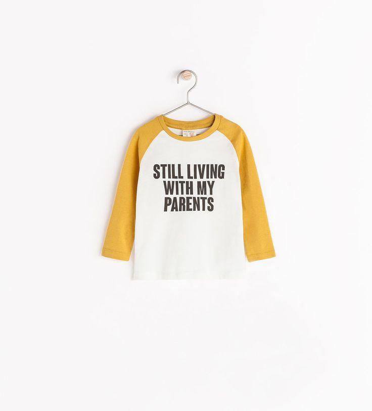 Image 1 de T-shirt inscription de Zara