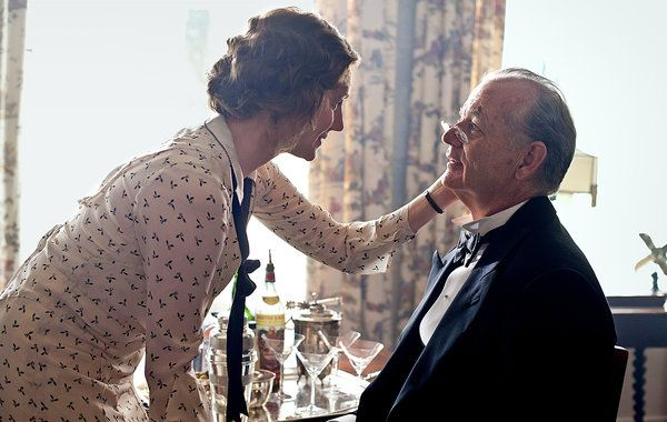 Bill MurRay is President Franklin Delano RoosEvelt, Laura Linney is the young Daisy, in the new movie Hyde Park on Hudson - A Royal Weekend - http://www.simplyhavefun.com/Uscire/Cinema/A-Royal-Weekend-748