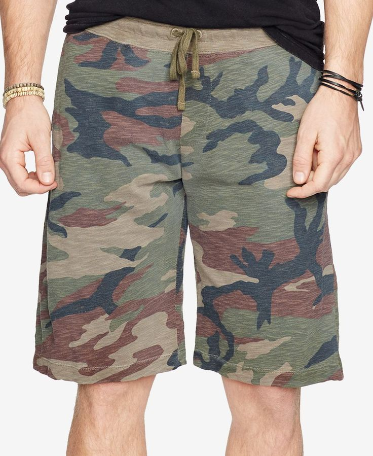 Denim & Supply Ralph Lauren Men's Camouflage-Print Jersey Shorts