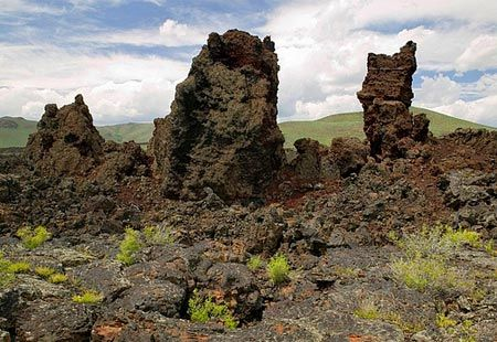 Lava formations - Craters of the Moon National Monument, Idaho (© Creatas Images/age fotostock)