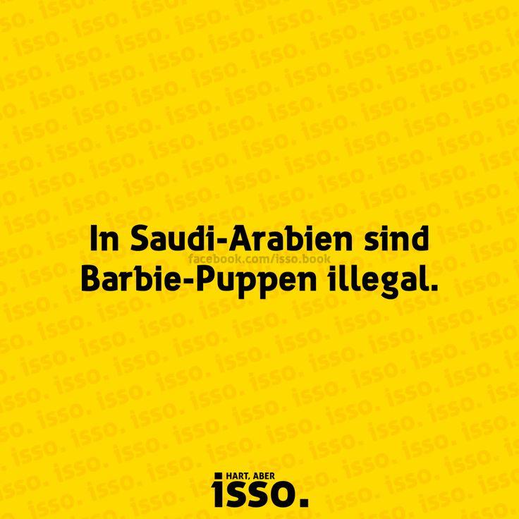 In Saudi-Arabien sind Barbie-Puppen illegal.  #isso #sprüche #sprueche #sprücheundzitate #spruecheundzitate #zitate #zitateundsprueche #spruch #spruchdestages #spruchbilder #fakten #sprücheseite #sprüchezumnachdenken #visualstatements #krass #heftig #barbie #saudiarabien #puppe