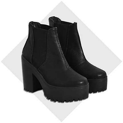 Black chunky platform Chelsea boots $80.00