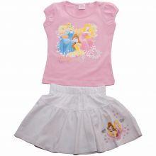 Set fustita/tricou Princess - roz/alb