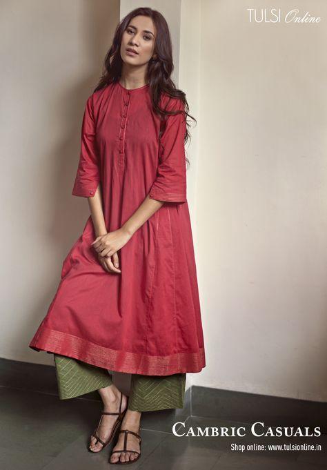 #Cambrickurta #anarkali #zariembroidery #womensfashion #indianstyle #basickurta #onlineshopping #tulsionline #casual