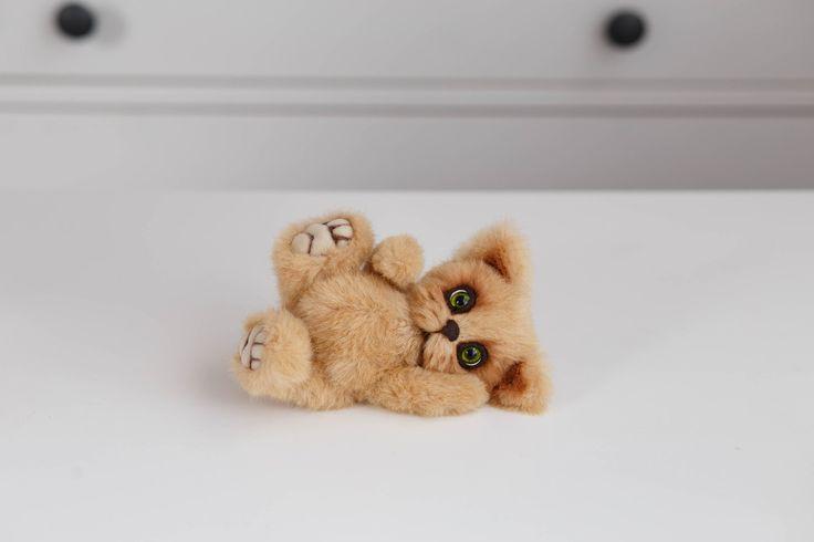 Artist collectible Teddy kitten Martin (OOAK) by TEDDYROOM on Etsy