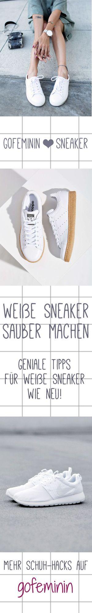 Eure weißen Sneaker sind dreckig? Mit diesen 6 genialen Tricks bekommt ihr sie wieder strahlend weiß! http://www.gofeminin.de/styling-tipps/weisse-turnschuhe-reinigen-s1387714.html #sneaker #wihtesneaker #weißeturnschuhe #tipps #weißeschuhesauber #lifehacks #shoehacks