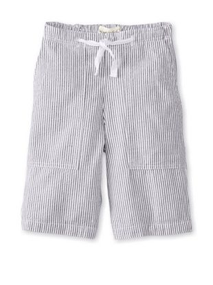 46% OFF Peas & Queues Kid's Justin Short (Black Seersucker)