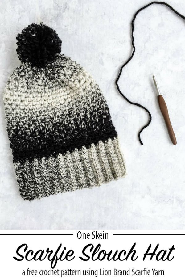 Cookies and Cream Slouch Hat - Free Crochet Pattern | Crochet - Hats ...
