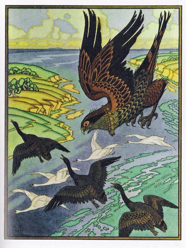 Russian Fairy Tales illustration by Ivan Bilibin