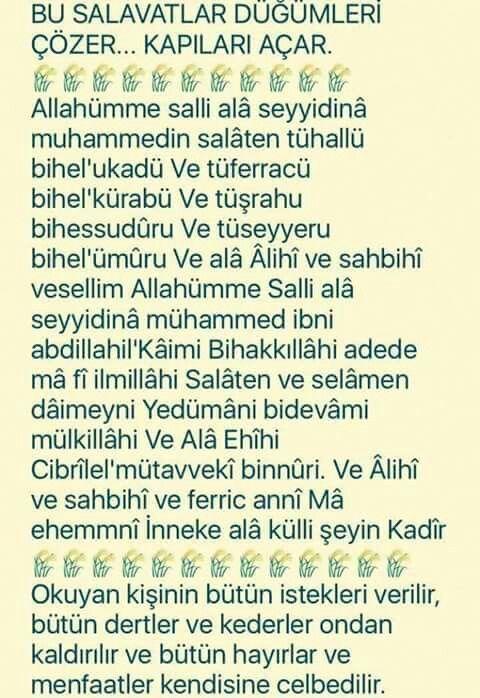 Müthiş dualar