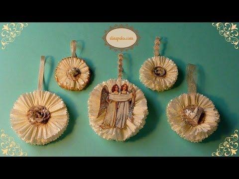 ▶ DIY Adornos Vintage para el Árbol de Navidad, Vintage Christmas Tree Ornaments - YouTube