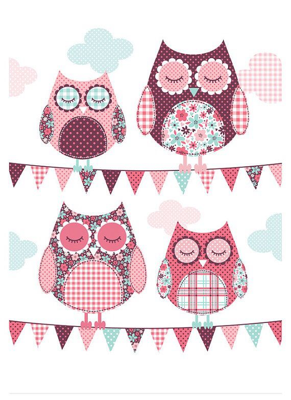 Owls. Bubble Gum Years - ETSY
