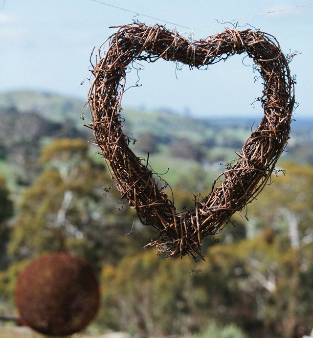 Heart from the vineyards