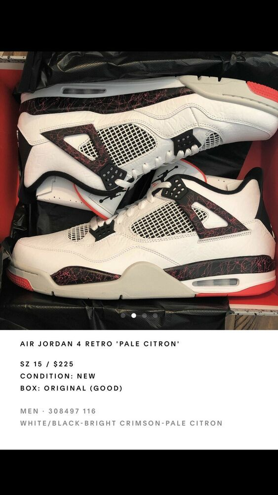 huge discount 6b8f4 21e50 nike air jordan Iv Flight Nostalgia Crimson Size 15 #fashion ...