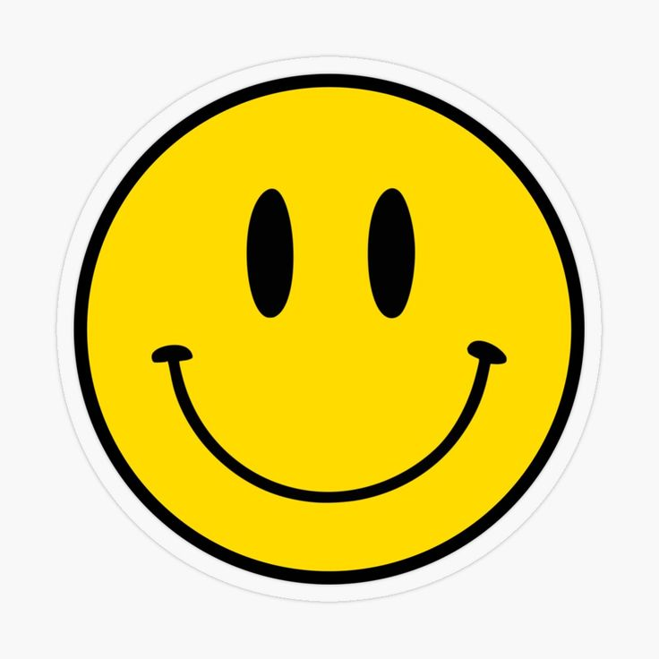 Happy Face Smiley Transparent Sticker By