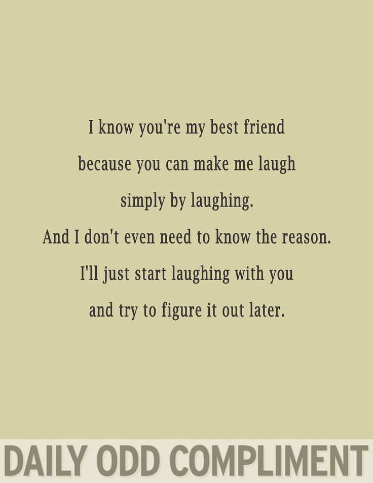 BFF Daily Odd Compliment