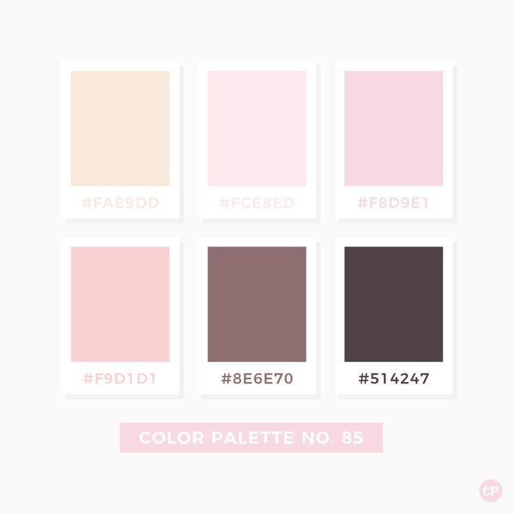 Color Palette No 85 Color Palette Pink Pantone Colour Palettes