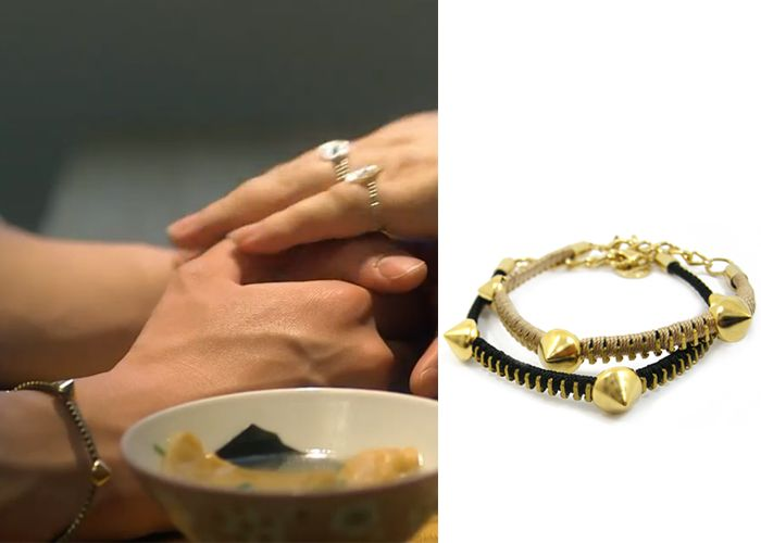 "Park Seo-Joon in ""Witch's Romance"" Episode 11. KatenKelly Gold Spike Friendly Zip Bracelet #Kdrama #WitchsRomance #ParkSeoJoon #박서준"