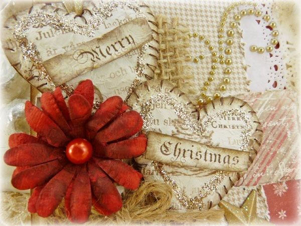 Make your next Christmas paper crafts absolutely gorgeous when you embellish them with Vintage Merry Christmas Hearts. Get a vintage look for your Christmas cards and make your paper crafts utterly dimensional.
